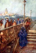 W. Goble, Köprüden Galata Kulesi. A. Van Millingen, 'Constantinople', Paris 1906. Helioprint.