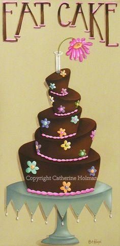 Dessert Print Eat Cake. $16.95, via Etsy.