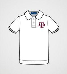 Texas A Boys' White Polo Shirt | JV Clothiers