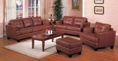Contemporary Leather Sofa Available in Four Color Choices - $388 (West Ashley)