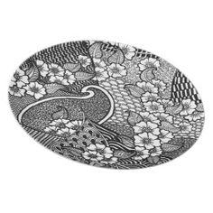 Flower Zentangle Plate Flache Teller Zentangle, Teller, Plates, Tableware, Unique Gifts, Licence Plates, Dishes, Dinnerware, Zentangle Patterns