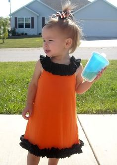 Shirt to Toddler Ruffle Dress Tutorial