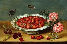 Unknown (Flemish) Still Life with Strawberries 1600-25