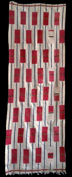 africa 10 strip woven cotton cloth from the ewe people of ghana early 20th