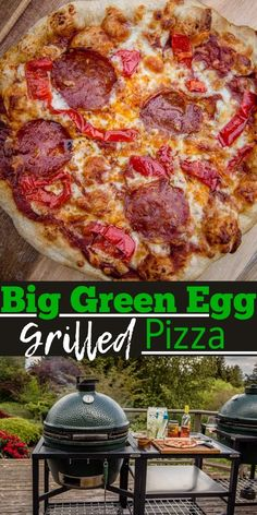Big Green Egg Pizza, Big Green Egg Grill, Grilled Flatbread, Grilled Pizza, Perfect Pizza, Good Pizza, Small Pizza, Green Egg Recipes, Easy Homemade Recipes