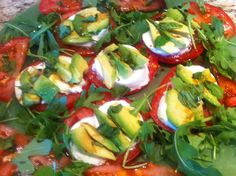 Avocado is added to a classic Caprese making it more nutritious and interesting!