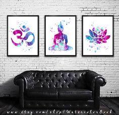 Buy 2 Get 1 FREE Special offer Yoga 2 Watercolor por WatercolorBook