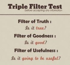 Test of Three Before I Speak | The Psych Scrivener | The Psych Scrivener