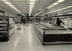 A view of the dairy and ice cream aisle inside the Star Supermarket at Pittsford Plaza in 1980