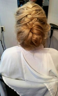Test before wedding - bridal hair. French braid and bun. What do you think?