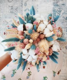 Dried Flowers Bouquet Wedding Gifts For Parents From Bride And Groom Light Decoration For Wedding Drying Petals Dried Flower Bouquet, Dried Flowers, Gift Flowers, Wedding Bouquets, Wedding Flowers, Wedding Gifts For Parents, Bunny Tail, Morning Flowers, Deco Floral