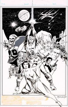 Tony DeZuniga Star Wars Weekly Pin-Up Original Art (Marvel UK, 1978).