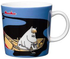 Håll Sverige Rent Moomin mug - blue from Arabia by Tove Jansson, Lars Jansson Moomin Shop, Moomin Mugs, Lettering Design, Branding Design, Les Moomins, Branded Mugs, Coffee Cups, Tea Cups, Tove Jansson