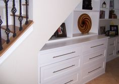 under the stairs bult ins - contemporary - Staircase - Dc Metro - Kent Cabinetry and Millwork Inc Understairs Cupboard Ideas, Under Stairs Drawers, Stair Renovation, Dresser Shelves, Cabinet Design, Contemporary Decor, Built Ins, Building A House, Family Room