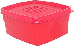 (10% off)  Cello Max Fresh Classic Square Medium Polypropylene Container, 550ml, Red