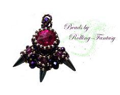 Anhänger mit Drachentatze und Swarovski-Kristallen von Beads by Rolling-Fantasy auf DaWanda.com