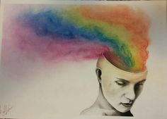 Watercolor and pastel
