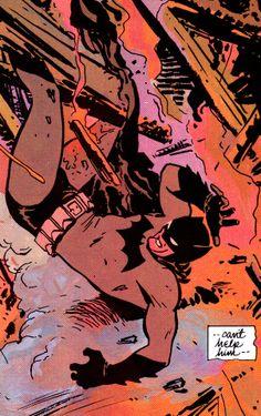 "Batman #406 (April 1987) - ""Year One, Chapter III: Black Dawn"" - art by David Mazzuchelli, words by Frank Miller"