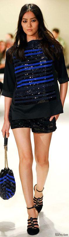 Sonia Rykiel ~ Spring Sequin Top w Shorts, Black 2015