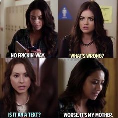 Shay Mitchell (Emily Fields) , Lucy Hale (Aria Montgomery) , & Troian Bellisario (Spencer Hastings) - Pretty Little Liars