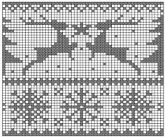 Winter outline knitting