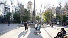 Menos verde: la ciudad perdió 26 hectáreas de parques en un año  La plaza Almagro, uno de los pocos lugares verdes de este barrio. Foto: Hernán Zenteno