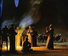 Early Star Wars concept art, by Ralph McQuarrie Star Wars Concept Art, Star Wars Art, Tusken Raider, Edge Of The Empire, Detailed Paintings, Classic Sci Fi, Ralph Mcquarrie, Nerd Love, Scene Photo