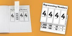 This handy Place Value Th H T O flap-book is a great way for the child to have these decimals to hand in their own notebook Place Values, Book Activities, Notebook, Child, Number, Learning, Places, Books, Boys