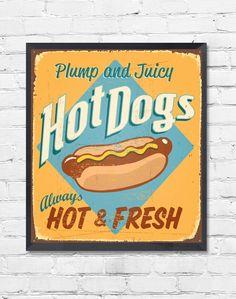 Quadro Vintage Hot Dog