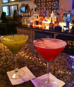 Cocktails at Kat's Cafe in Atlanta, Georgia.