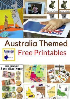 Montessori Nature: Australia Themed Free Printables. Australia Day activities and resources | Resources for Montessori classroom