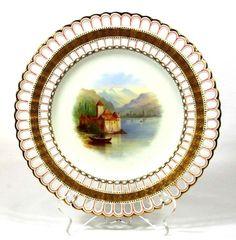 Minton Reticulated Scenic Plate @ 瓷海無涯 :: 隨意窩 Xuite日誌