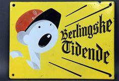 Vare: 3688875Emaljeskilt for 'Berlingske Tidende', 23,5 x 31,5 cm.