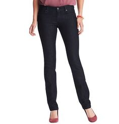 Petite Modern Straight Leg Jeans In Rinse Wash