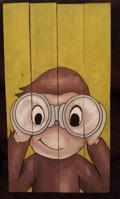 Curious George Birthday/Bedroom Decor Pallet Sign Painting