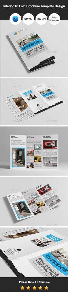 Modern Tri Fold Brochure Template Design Modern, Template and - hotel brochure template