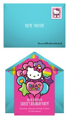 Paper invites are too formal, and emails are too casual. Get it just right with online invitations from Punchbowl. We've got everything you need for your Hello Kitty themed party.  http://www.punchbowl.com/hellokitty/express/?utm_source=Pinterest&utm_medium=1.28P