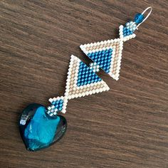 Earrings grey or blue triangles