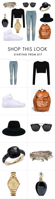 """""""Untitled #14"""" by verus-krumlova on Polyvore featuring Yves Saint Laurent, NIKE, Madewell, Maison Michel, Pomellato, Aéropostale, Lacoste and Roberto Cavalli"""