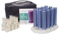 Calista Tools Ion Hot Rollers Long Style Set of 12 with Instruction Manual NEW #Calista