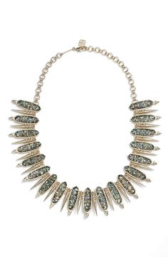 Dress up any look with this dazzling collar necklace from Kendra Scott!