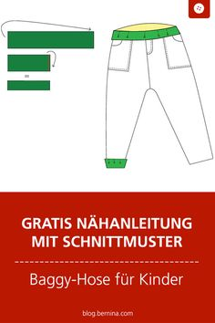 Instructions and pattern: Baggy pants for strong boys and girls Sewing For Kids, Free Sewing, Diy For Kids, Jogging Bebe, Date Photo, Long Pink Hair, Baggy Trousers, Chocolate Hair, Sewing Pants