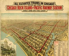 in the loop  Map of All Elevated Trains in Chicago