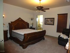 Ahh, a naked bed. The listing Realtor should've left that picture out of the listing.  The rest of the house is lovely.
