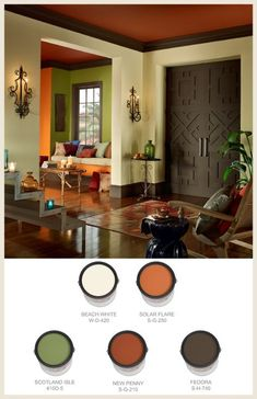 Let the beautiful patterns and colors of Morocco inspire your next home paint project. Check out our favorite Morrocan-inspired paint colors. Room Paint Colors, Paint Colors For Living Room, Bedroom Colors, Living Room Decor, Living Rooms, African Interior, Room Color Schemes, House Design, Interior Design