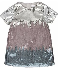 Girls Holiday Dress - Ombre Sequin Shift Dress by Chloe - Rent for $99 via Borrow Mini Couture @Borrow Baby Couture