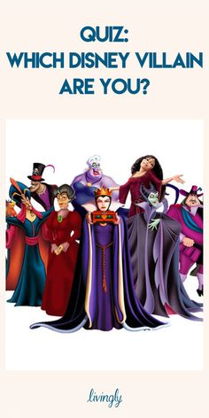 Take this personality quiz to find out which Disney villain you are!
