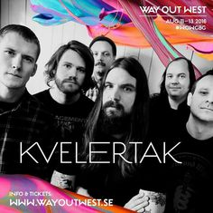Kvelertak to play @wayoutwestgbg in 2016