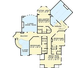 Majestic Master-Down House Plan - 15603GE | Architectural Designs - House Plans