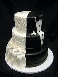 His & Hers Wedding Cake